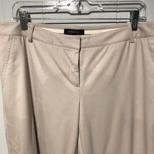Lafayette 148 New York cream wool dress pants P8